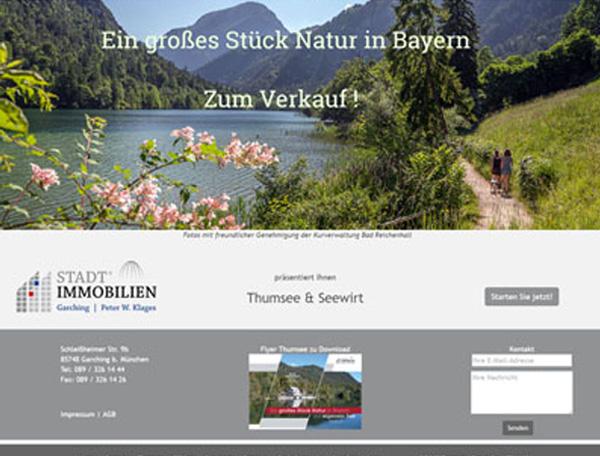 Neue Website für den Verkauf von Thumsee und Seewirt