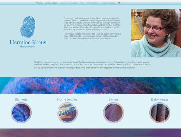 Handweberei Hermine Kraus endlich eigene Internetseiten