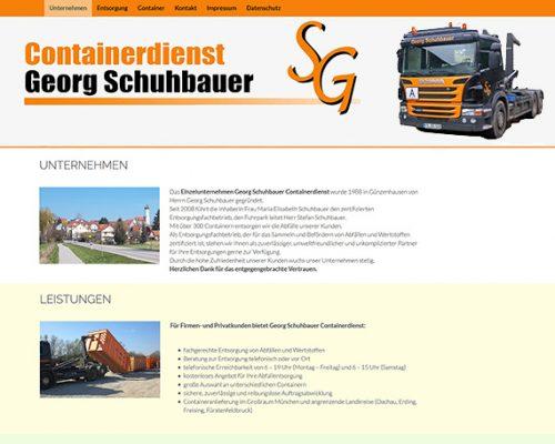 Schuhbauer Containerdienst aus Günzenhausen zeigt sich mit neuem Design