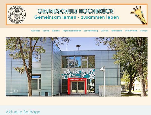 Internetseiten der Grundschule Garching Hochbrück jetzt auf wordpress umgestellt