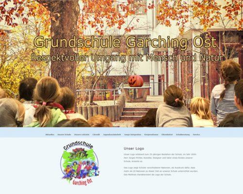 Internetseiten der Grundschule Garching Ost jetzt auf wordpress umgestellt